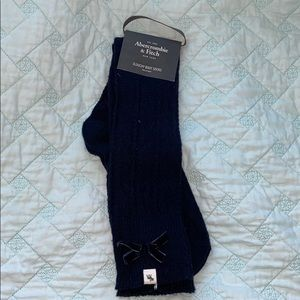 Abercrombie and Fitch slouchy boot sock blue